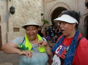 Juanita on the right and her sister at EPCOT