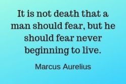 Quote about death by Marcus Aurelius