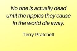 Quote about death by Terry Pratchett