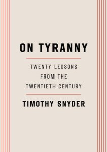 "Cover of ""On Tyranny"" by Timothy Snyder"