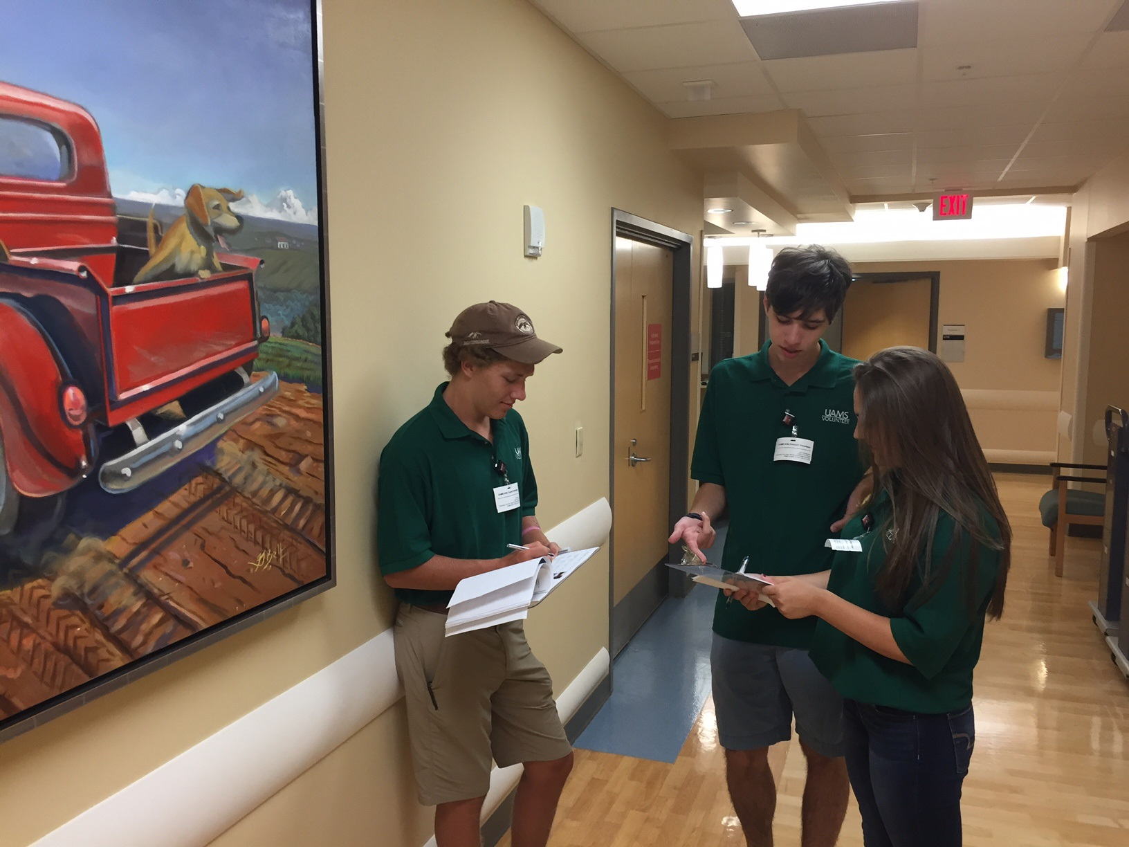 Scouts cataloged the art hanging in the University of Arkansas Medical Center to create a website so that patients, families, and visitors can learn more about the art that is hanging throughout the hospital. You can see the art at: http://arts.uams.edu/art/