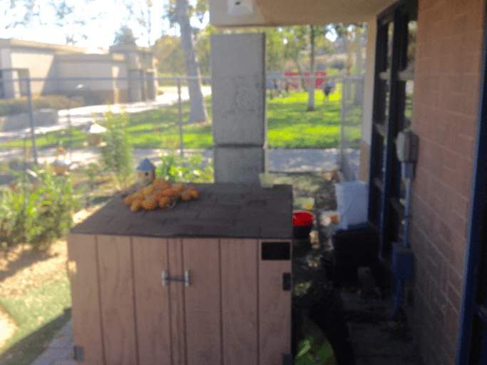 """The project entailed building a """"Tool shack"""" for Aliso Viejo Middle School to be permanently located in the Aliso Viejo Middle School Science Garden."""