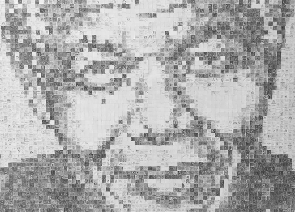 nelson mandela mosaic art