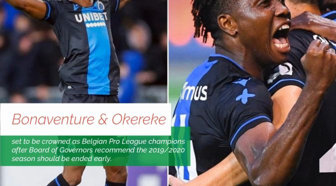 CLUB BRUGGE SET TO BE CROWNED PRO LEAGUE CHAMPIONS