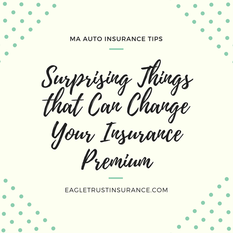 3 Surprising Things That Can Change Your MA Auto Insurance