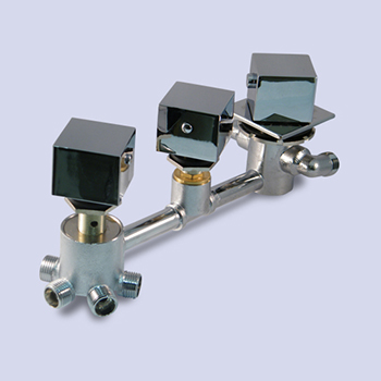 5way steam shower faucet valve set square knobs