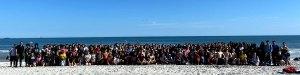 Easton Area Instrumental Students on the Beach in Jacksonville