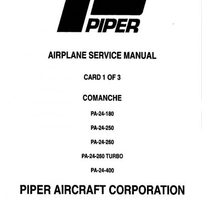 Piper PA-24 Maintenance & Parts Manuals Archives