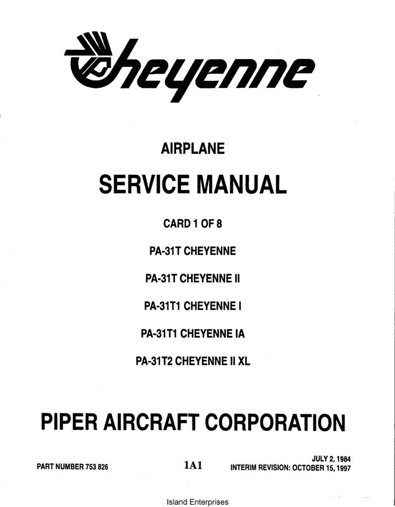 Piper Cheyenne II/I/ IA/II XL Service Manual PA-31T/31T1