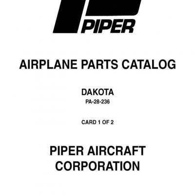 Piper PA24-180-250-260-400-Comanche Parts Catalog PART