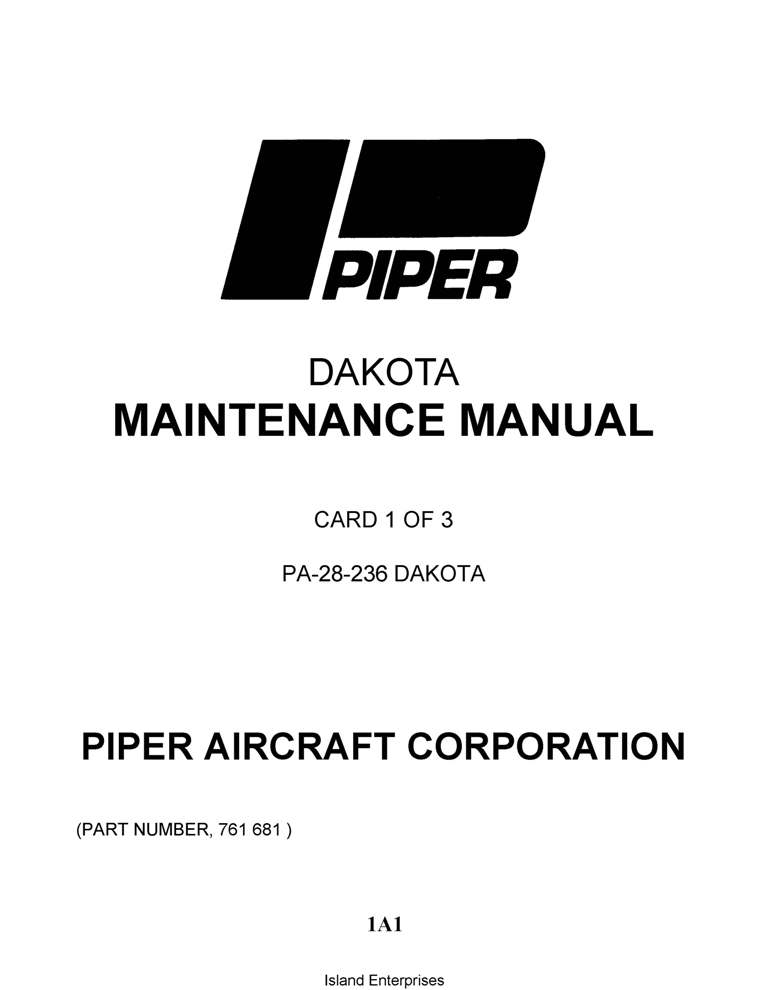 Cessna Model 177RG Series (1976 Thru 1978) Service Manual
