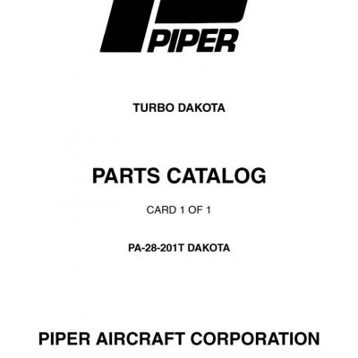 Piper PA-28 Maintenance & Parts Manuals Archives