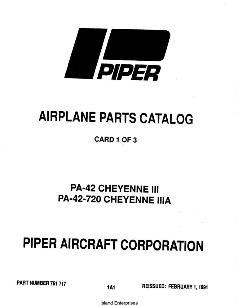 Piper Cheyenne III, IIIA Parts Catalog PA-42 PA-42-720
