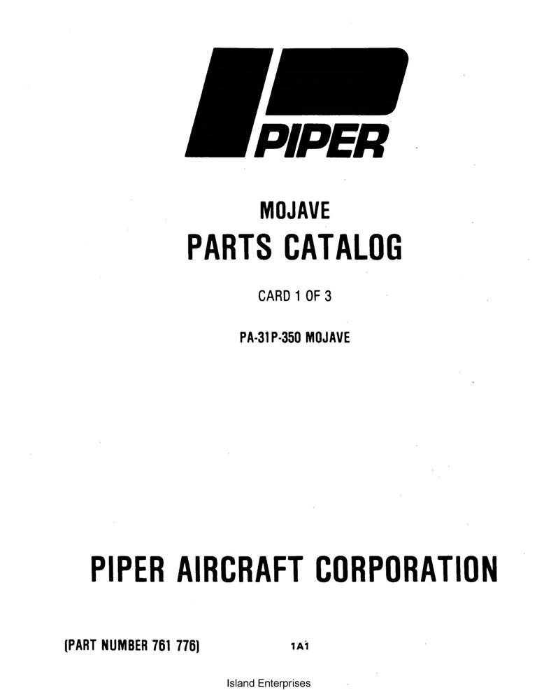 Piper Mojave Parts Catalog PA-31P-350 Part # 761-776