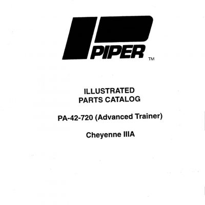 Piper PA-42 Maintenance & Parts Manuals Archives