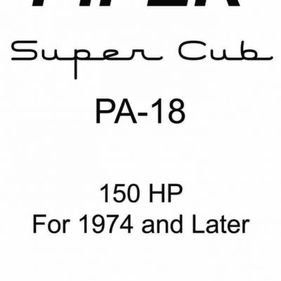 Piper PA-18 Information Manual Archives