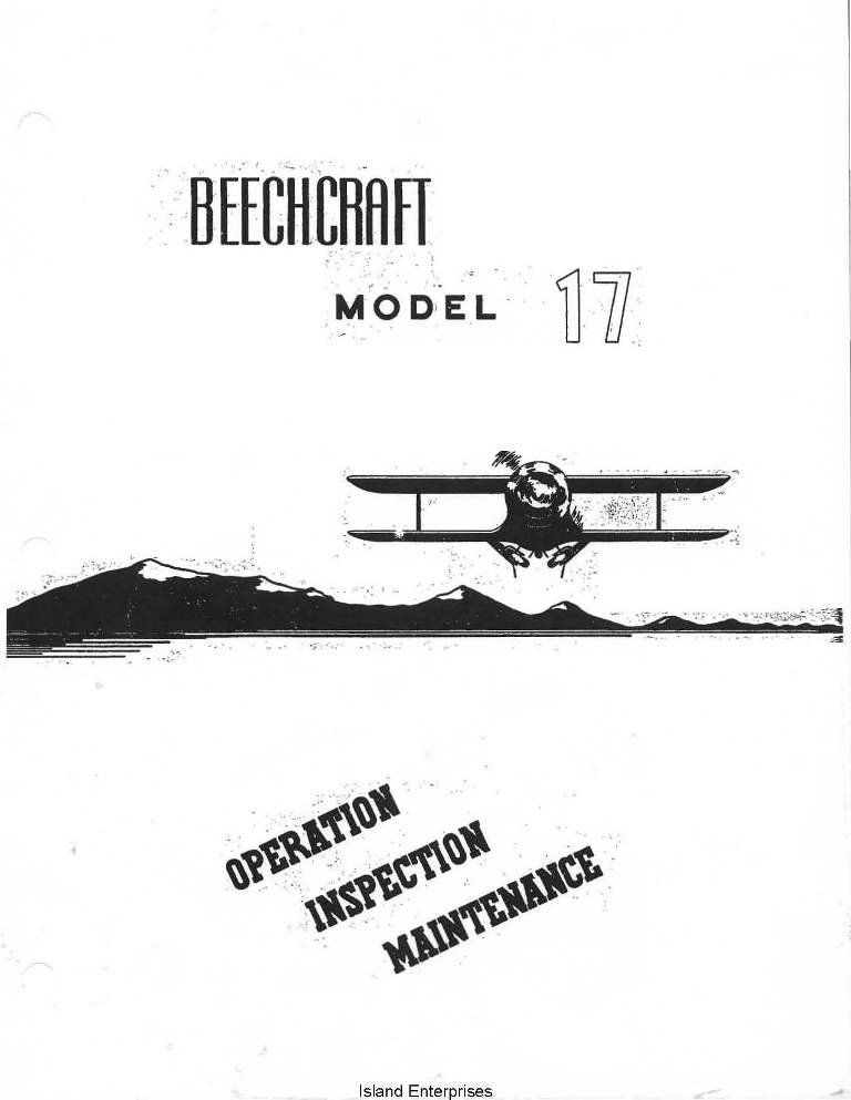 Beechcraft C17 & B17 Operation, Inspection & Maintenance