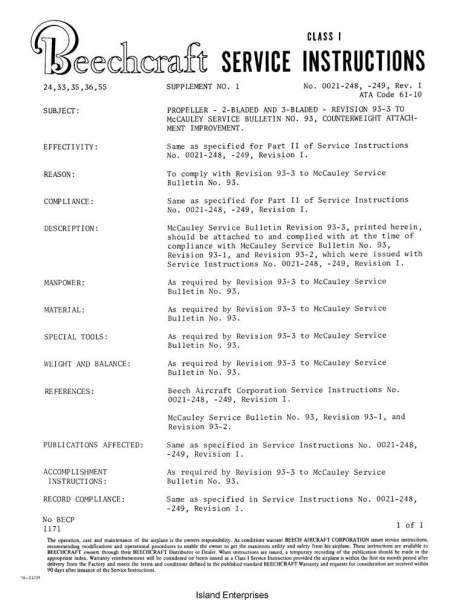 Beech 76 Service Manual