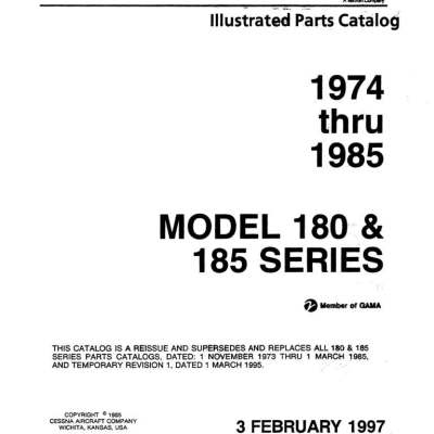 1961 Cessna 210 Poh Owners Manual