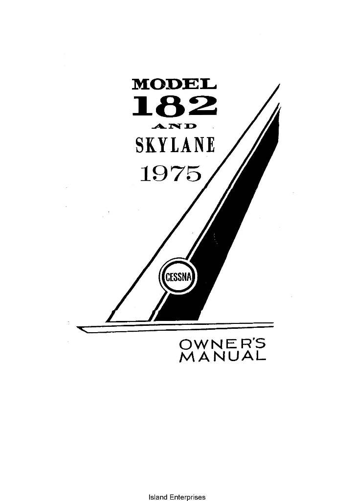 Cessna 182 and Skylane Owner's Manual 1975