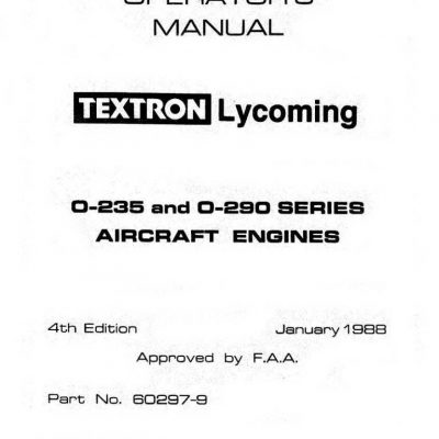 Lycoming Operator's Manual Part VO-360 & IVO-360 1999