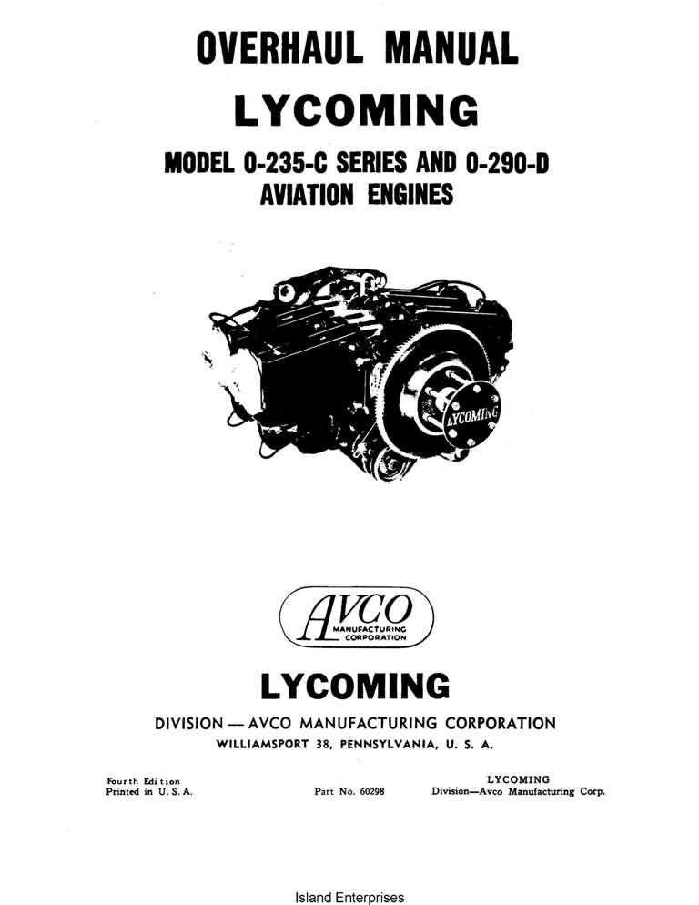 Continental Overhaul Manual X30013 C-125, C-145 & O-300