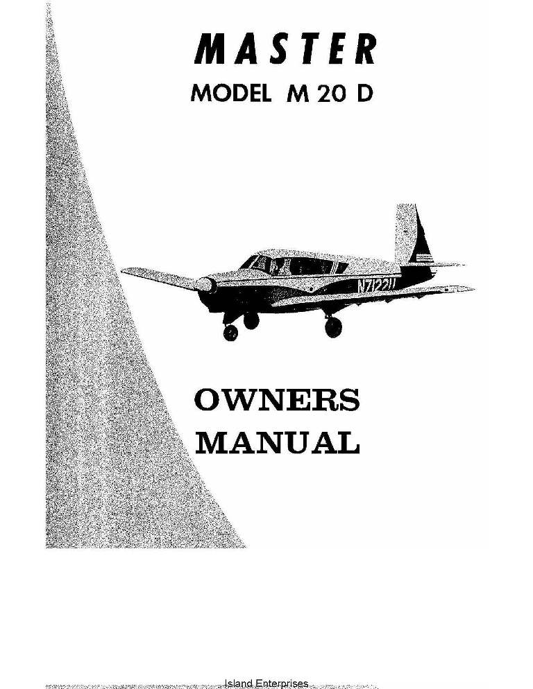 Mooney Master M20D Owner's Manual 1966