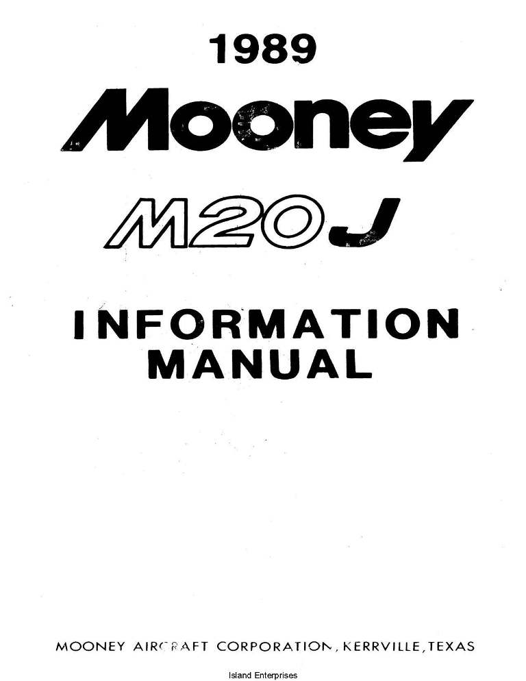 Mooney M20J 1989 Information Manual