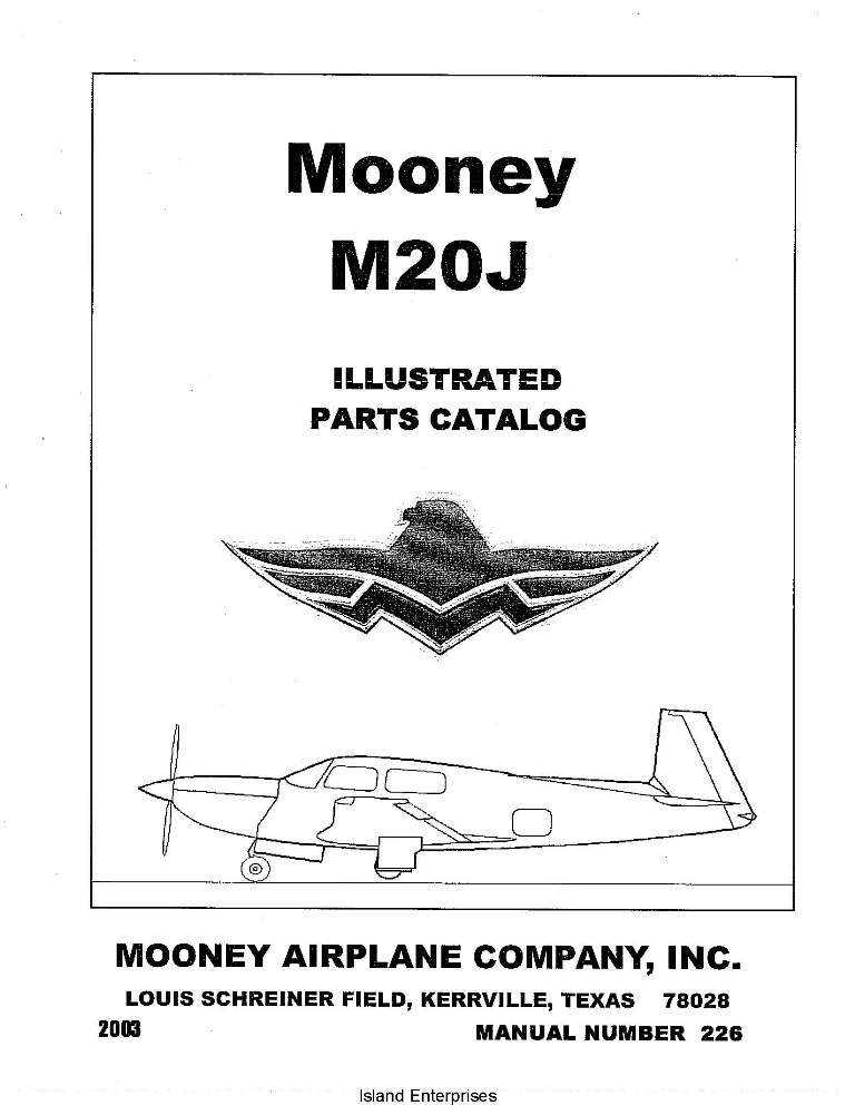 Mooney M20J Illustrated Parts Catalog 2003