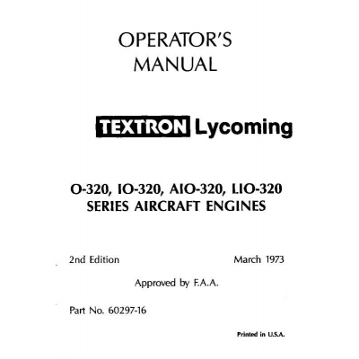 B1d eaircraftmanuals lycoming operators manual part 60297 16 4 o io aio lio 320 series 1973 1998 sciox Gallery