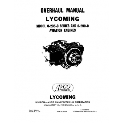 Lycoming O-290-GI and O-290-G4 Air Cooled Engine Handbook