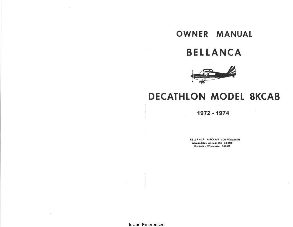 Cessna 177 Owners manual