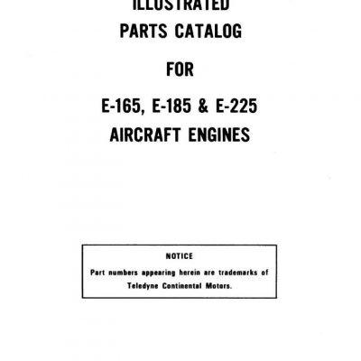 Continental E165,E185 & E225 Engines Manual