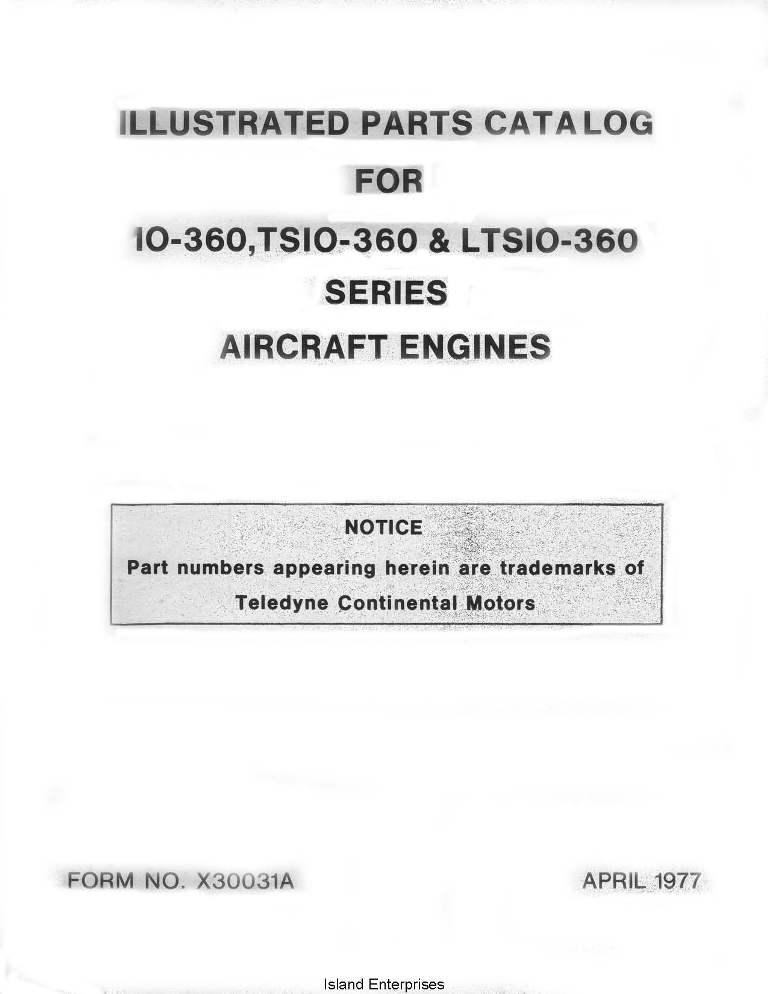 continental 360 engines manual eaircraftmanuals com rh eaircraftmanuals com Teledyne Continental Diesel Engines Continental TSIO-360 TBO