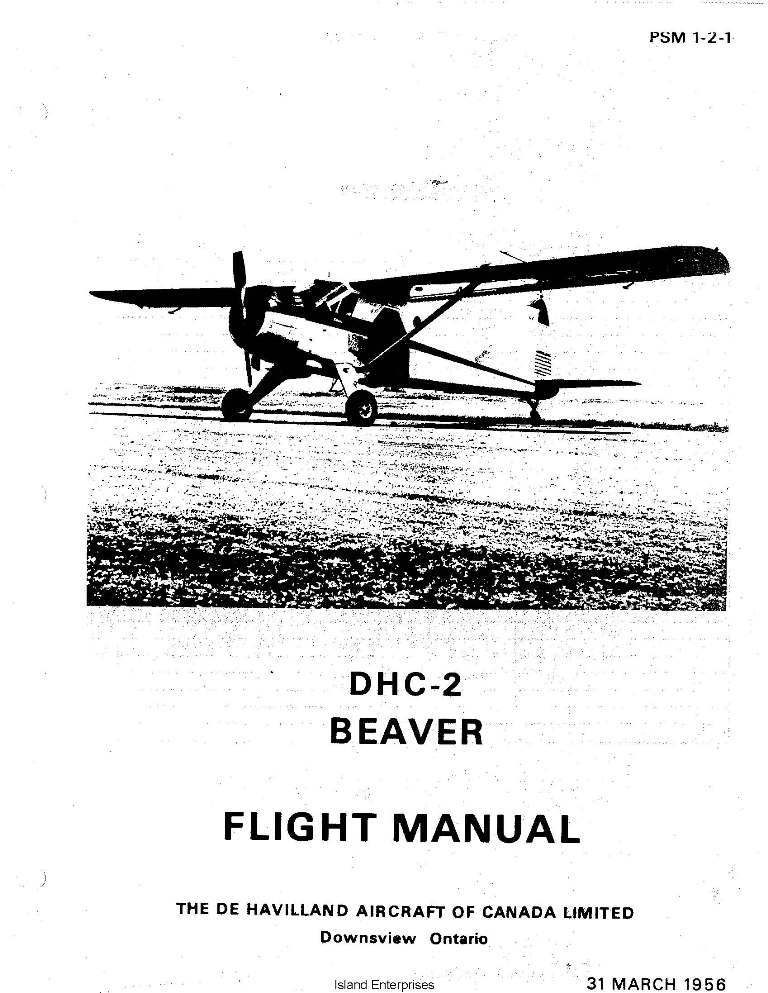DHC-2 Beaver De Havilland Flight Manual