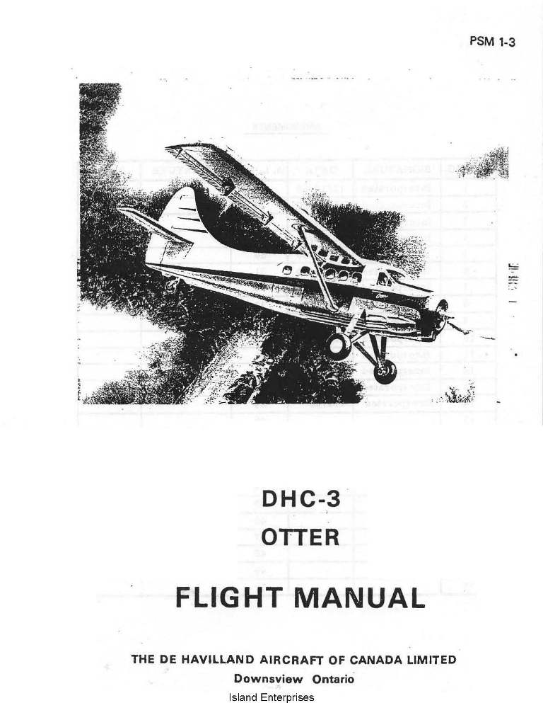 De Havilland DHC-3 Otter Flight Manual 1966