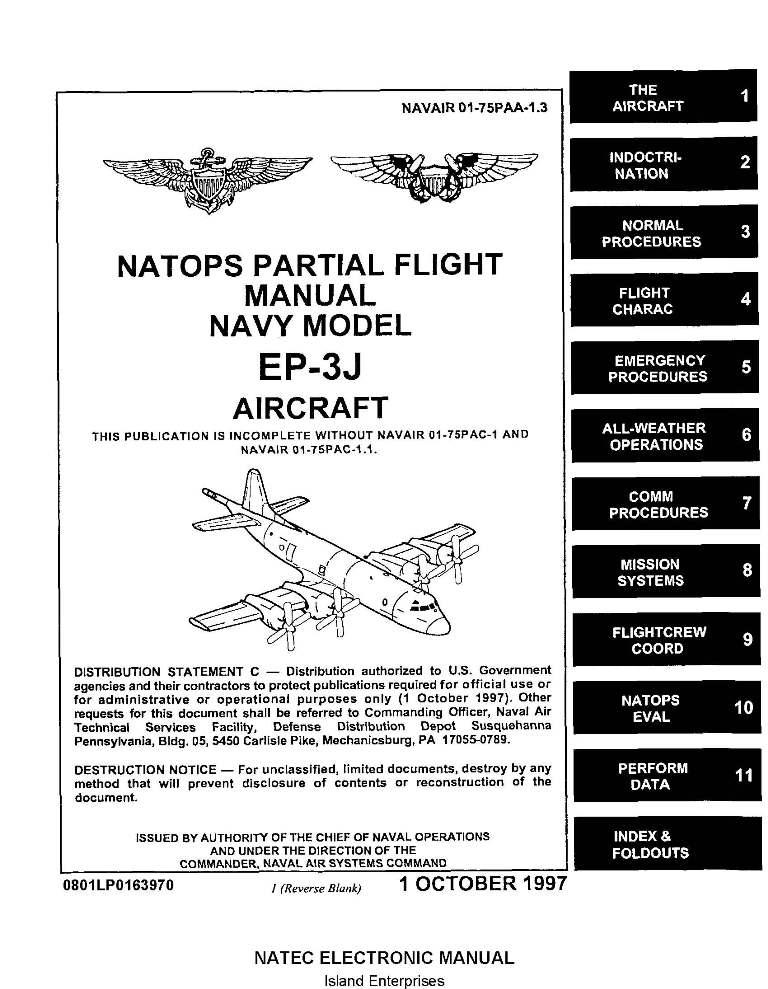 Lockheed EP-3J Orion Navy Model Aircraft Natops Flight