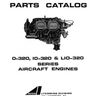 Continental Model C75 & C85 Aircraft Engine Instruction
