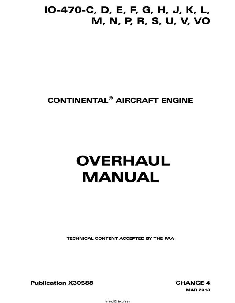teledyne continental motors overhaul manual io 470 x30588 rh eaircraftmanuals com continental a65 overhaul manual continental overhaul manual pdf