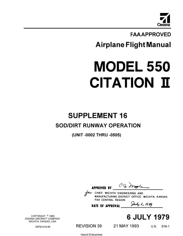 Cessna 550 Maintenance Manual