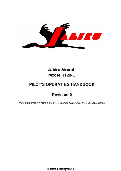 Jabiru J120-C Pilot's Operating Handbook 2007