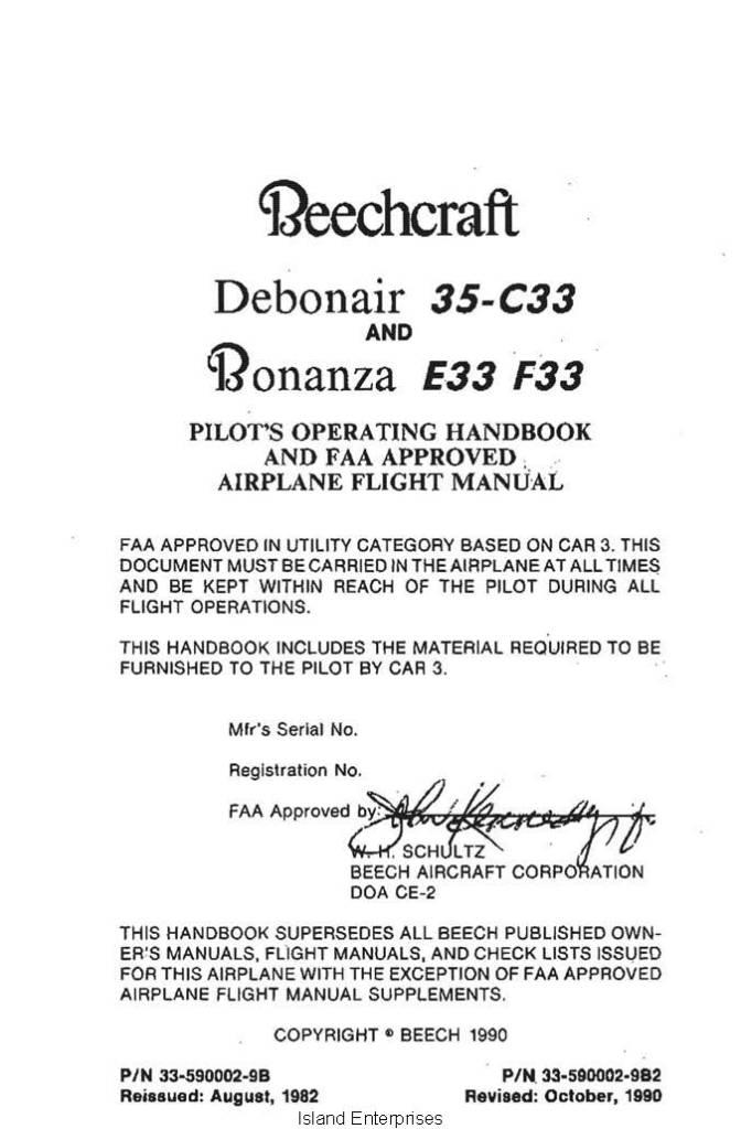 Beechcraft a36 poh