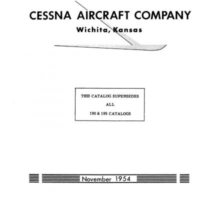 Cessna 190/195 Parts Manuals Archives
