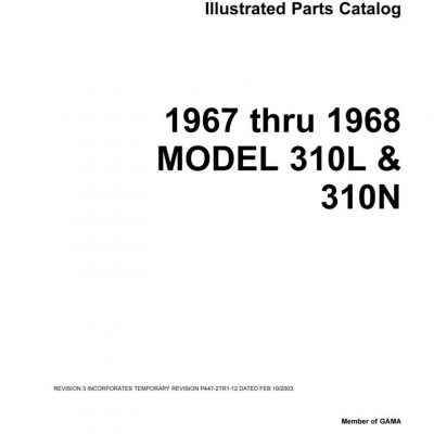 Cessna 310 Parts Manuals Archives