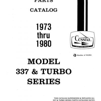 Cessna 337 Parts Manuals Archives