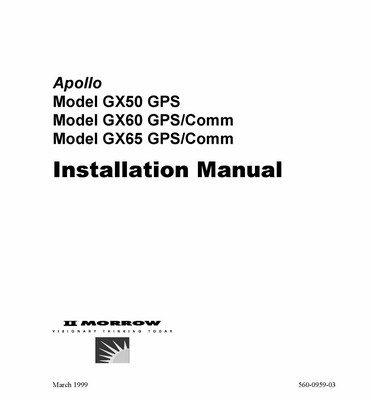 Apollo Model SL70 Mode A/C Transponder Installation Manual