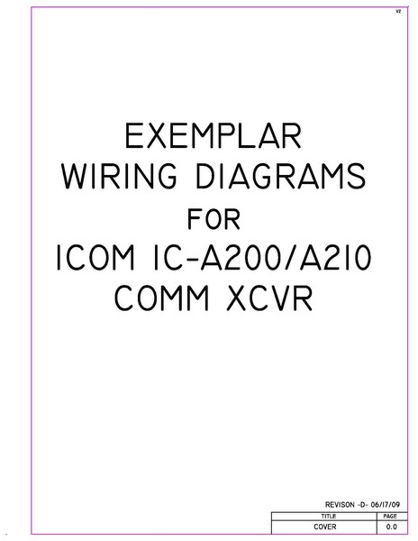 Icom IC-A200 Installation Instructions