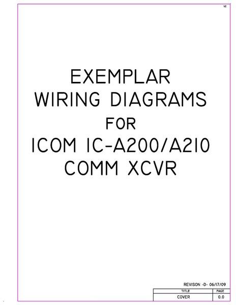 icom ic a200 a210 comm xcvr exemplar wiring diagrams rh eaircraftmanuals com