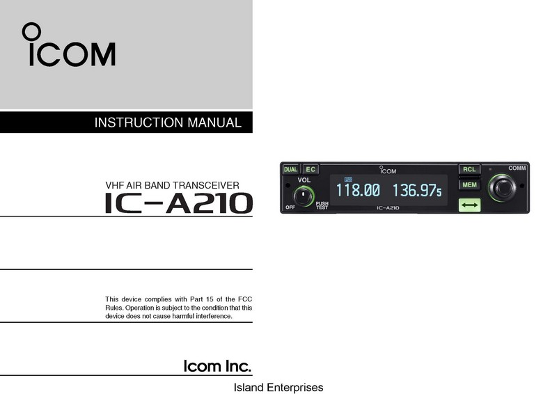 Icom ic m802 installation Manual