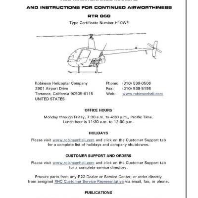Robinson helicopter parts & maintenance manual | eaircraftmanuals. Com.